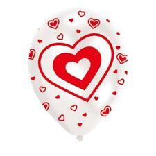 6 Paquets Coeurs Ballon 27 cm Saint Valentin Latex Ballon Décorations
