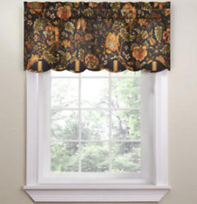 "*Waverly Imperial Dress Rod-Pocket Valance Window Curtain 52""W x 18""L Onyx NEW"