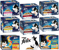 Felix Bulk Wet Cat Food 60 x 85g Pouches Adult Or Kitten Many Flavours To Choose
