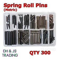 Assortiment boîte de printemps roll pins (300) métrique M2 M3 M4 M5 M6 M8 serrage à encoche