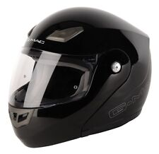 G-Mac Axis Flip up Front Motorbike Motorcycle Helmet Pinlock Ready Black XS