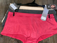 Daisy Fuentes ~ 3-Pair Women's Boyshorts Underwear Panties Rayon Blend Soft ~ L