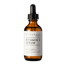 Vitamin C Serum w/ Organic Hyaluronic Acid Anti-Aging 2oz Asterwood Naturals