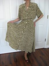 New listing Vintage Gillian Silk Shirt Dress Size 8