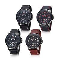 NAVIFORCE NF9028 Original Luxury Leather Waterproof Analog Mens Wrist Watch
