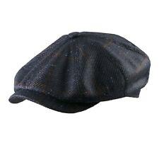 Stetson  Men's Wool Silk Check Newsboy Cap