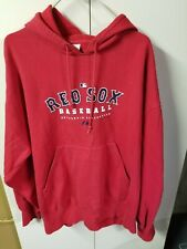 "BOSTON RED SOX ""MAJESTIC AUTHENTIC COLLECTION"" USED HOODED SWEATSHIRT MEN'S XL"