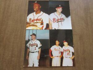 1950's Milwaukee Braves H.Aaron-E.Mathews-Del Crandall-W-Spahn-S Musial Photos 4