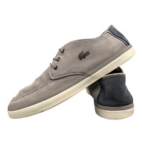 LACOSTE Men's Formal Shoes Size Uk 9 Casual Grey Suede Lace Up Trainers EUR 43