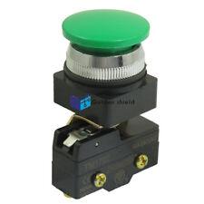 TM1702 AC 250V 15A 30mm Thread Momentary Green Mushroom Button Micro Switch