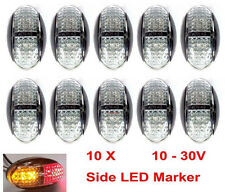 10 x 12V 24V DC 4 LED CLEARANCE LIGHTS SIDE MARKER TRAILER TRUCK CAR AMBER RED