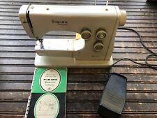 Vintage Husqvarna Viking Sewing Machine w/ Manual Made in Sweeden Model 5220