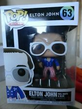Funko Pop!! 'Sir' Elton John 'Red, White & Blue Vinyl Figure #63