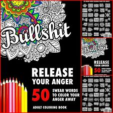 NEW RELEASE YOUR ANGER SWEAR WORD COLOURING BOOK FOR ADULT SWEARY FUN GIFT