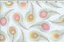 Cotton Quilt Fabric Andover Victorian Modern Feathers yard