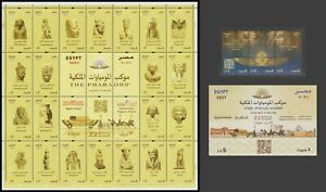 Egypt - 2021 - Set, S/S & Sheet - ( THE PHARAOHS Golden Parade - 3 April 2021 )
