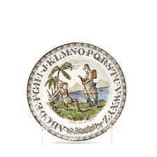 ANCIEN ROBINSON CRUSOÉ ENFANT ALPHABET PLAQUE 1887
