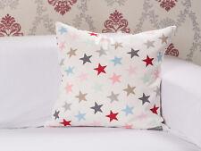 Krasilnikoff Kissenhülle 50x50 Sterne weiß bunt Stern Kissen Kissenbezug