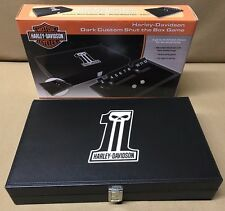 Harley-Davidson ® #1 Skull Dark Custom Logo Shut the Box Dice Game FREE Shipping