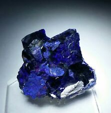 ***GORGEOUS- Deep Blue Azurite crystal on matrix, Milpillas mine Mexico***