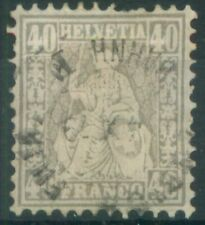 Switzerland 1878 SG 66 40Fr Grey Helvetia definitive stamp used