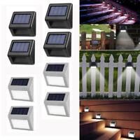 Solar Power 3 LED Light Lamp Outdoor Garden Fence Wall Stair Step Lamp Decking