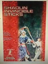 Shaolin Invincible Sticks DVD / New (OD-649107405150 / OD-260)
