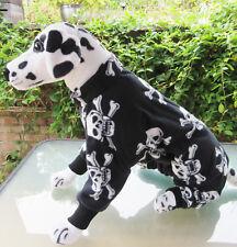 Onsie/Pajamas/Dog Coat/jacket/pj's. Skull & Crossbones. Anti Plll Polar fleece