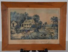 CURRIER & IVES AMERICAN HOMESTEAD SUMMER 1868 Original Colored Lithograph Print
