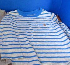 BABY GAP~Gray & Blue Striped  LONG SLEEVE TEE T-SHIRTS~Boys Size 4