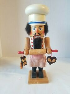 """Steinbach Vintage wooden  Nutcracker """"The Baker"""" hand painted made in germany"""