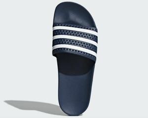 Adidas Navy Blue Slides Sandals For Men Size 13