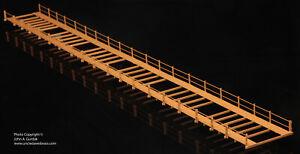 BRASS PBA 162 FOOT BRIDGE DECK WITH DUAL WALKWAYS & RAILING F/P TAN / BROWN; NEW