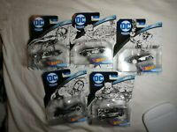 2018 HOT WHEELS DC SKETCHED SERIES CHARACTER CARS - COMPLETE SET OF 5