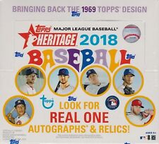 2018 Topps HERITAGE Baseball Series Factory Sealed Retail Box 24 Packs 216 Cards