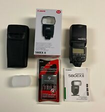 Canon 580 EX II Flash Speedlite with Pearstone rechargeable batteries & charger