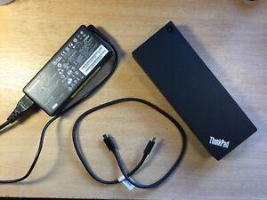 Lenovo ThinkPad Thunderbolt 3 Dock Gen 2  40AN DK1841  - with PSU & USB C Lead