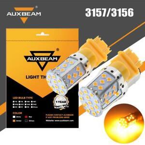 AUXBEAM 3157 3156 LED Backup Reverse Light Bulbs Canbus Error Free Yellow Light