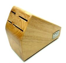 New listing Chicago Cutlery Small Wooden Knife Block 4 Slot Storage