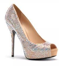 Gucci Sofia Etoile High Heel High Heel Platforms Metallic Women Sz 39.5 EUR 4116