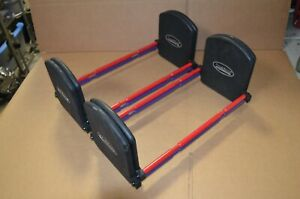 2 Pair PowerBlock Pro EXP Stage 2 Expansion Kit (80-90lbs) Set of 2 Red Purple