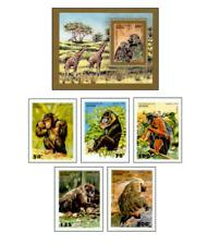 BEN9509 Monkeys block and 5 stamps MNH BENIN 1995