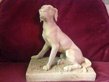 Statue Sculpture Terre cuite Chien de chasse Braque Hongrois Vizsla Mandeville