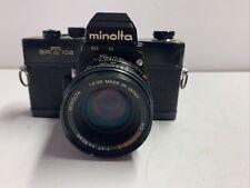 Minolta SRT mc 35mm SLR Film Camera Black Body with 50mm 1.7 lens