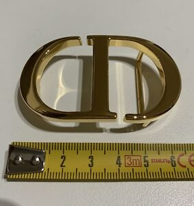 FIBBIA PER CINTURA DIOR MEDIA ORO MEDIUM BUCKLE FOR BELT GOLD LIKE NEW