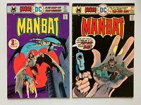 MANBAT #1 #2 LOT OF 2 MID GRADE BRONZE AGE DC COMICS BATMAN