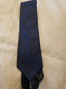 Calvin Klein Men's Pattern Navy Silk Blend Tie
