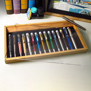 Retro 51 New Bamboo Collector Pen Tray (Holds 16 Pens)