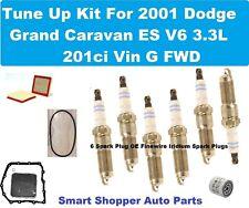 Tune Up Kit For Dodge Grand Caravan V6 3.3L  VinG Oil Air Fuel Cabin Filter Belt