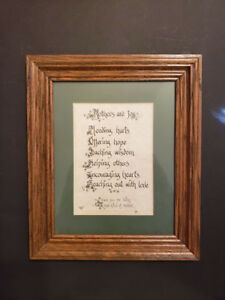 Vintage Wood Framed Inspirational Mother Poem - Saying - C. Grubb